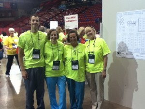 Dr. Foster, Stacy, Stacy and Candy at Mission of Mercy 2012